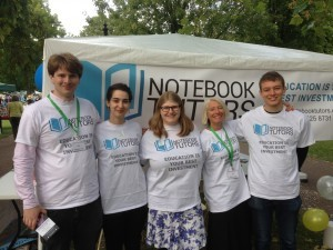 Notebook Tutors at Queen's Park Day